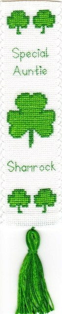 Green Shamrock (Special Auntie) - Bookmark Cross Stitch Kit