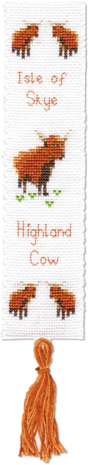 Highland Cow - Scottish Bookmark Cross Stitch Kit
