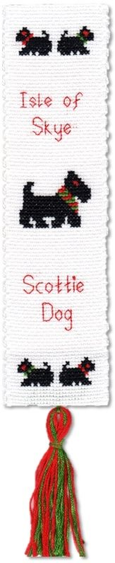 Scottie Dog / West Highland Terrier - Bookmark Cross Stitch Kit
