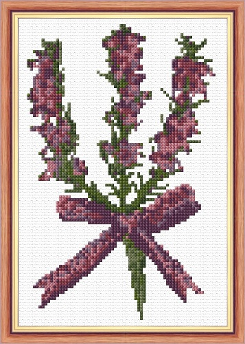 Scottish Purple Heather - 14 Count Cross Stitch Mini Kit