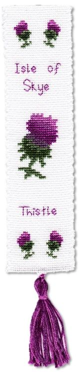 Scottish Thistle - Bookmark Cross Stitch Kit