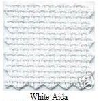 "White 14 Count Aida Fabric - 12"" x 12"" (30cm x 30cm)"